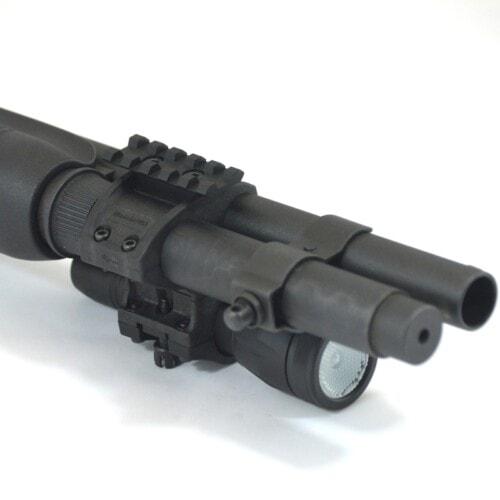 ZPR8700 Rail Kit installed on Elzetta ZSM Shotgun Flashlight Mount