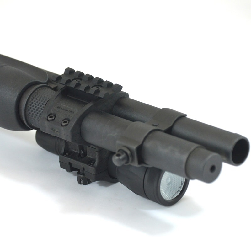 ZPR8700 Rail Kit installed on Elzetta ZSM Shotgun Flashlight Mount