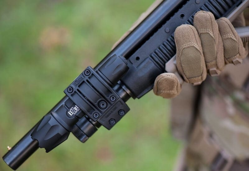 ZSM Flashlight Mount For Tactical Shotguns